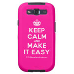 [Crown] keep calm and make it easy  Samsung Galaxy S3 Cases