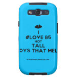 [Two hearts] i #love b5 hot tall boys that melt  Samsung Galaxy S3 Cases