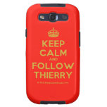 [Crown] keep calm and follow thierry  Samsung Galaxy S3 Cases