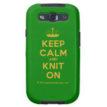 [Knitting crown] keep calm and knit on  Samsung Galaxy S3 Cases