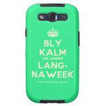 [Crown] bly kalm dis amper lang- naweek  Samsung Galaxy S3 Cases