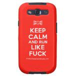 [UK Flag] keep calm and run like fuck  Samsung Galaxy S3 Cases
