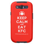 [Cutlery and plate] keep calm and eat kfc  Samsung Galaxy S3 Cases
