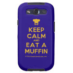 [Chef hat] keep calm and eat a muffin  Samsung Galaxy S3 Cases