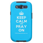 [Crown] keep calm and pray on  Samsung Galaxy S3 Cases
