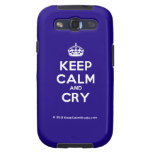 [Crown] keep calm and cry  Samsung Galaxy S3 Cases