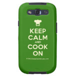 [Chef hat] keep calm and cook on  Samsung Galaxy S3 Cases