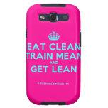 [Crown] eat clean train mean and get lean  Samsung Galaxy S3 Cases