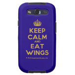 [Crown] keep calm and eat wings  Samsung Galaxy S3 Cases