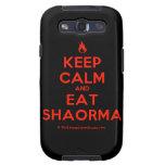 [Campfire] keep calm and eat shaorma  Samsung Galaxy S3 Cases