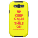 [Smile] keep calm and smile on  Samsung Galaxy S3 Cases