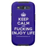 [Crown] keep calm and fucking enjoy life  Samsung Galaxy S3 Cases