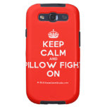 [Crown] keep calm and pillow fight on  Samsung Galaxy S3 Cases
