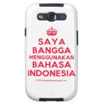 [Crown] saya bangga menggunakan bahasa indonesia  Samsung Galaxy S3 Cases