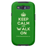 [Crown] keep calm and walk on  Samsung Galaxy S3 Cases
