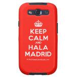 [Crown] keep calm and hala madrid  Samsung Galaxy S3 Cases