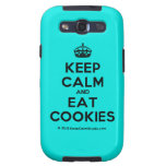 [Crown] keep calm and eat cookies  Samsung Galaxy S3 Cases