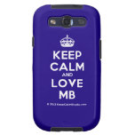 [Crown] keep calm and love mb  Samsung Galaxy S3 Cases