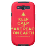 [Xmas tree] keep calm and make peace on earth  Samsung Galaxy S3 Cases