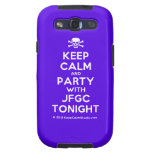 [Skull crossed bones] keep calm and party with jfgc tonight  Samsung Galaxy S3 Cases