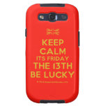 [UK Flag] keep calm its friday the 13th be lucky  Samsung Galaxy S3 Cases