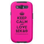 [Crown] keep calm and love §ekå®  Samsung Galaxy S3 Cases