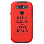 [Love heart] keep calm and love jesus  Samsung Galaxy S3 Cases