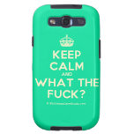 [Crown] keep calm and what the fuck?  Samsung Galaxy S3 Cases