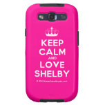 [Knitting crown] keep calm and love shelby  Samsung Galaxy S3 Cases