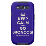 [Crown] keep calm and go broncos!  Samsung Galaxy S3 Cases