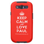 [Crown] keep calm and love paul  Samsung Galaxy S3 Cases