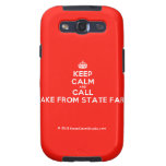 [Crown] keep calm and call jake from state farm  Samsung Galaxy S3 Cases