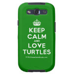 [Crown] keep calm and love turtles  Samsung Galaxy S3 Cases