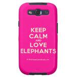 keep calm and love elephants  Samsung Galaxy S3 Cases