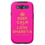 [Crown] keep calm and love shareya  Samsung Galaxy S3 Cases