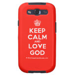 [Cupcake] keep calm and love god  Samsung Galaxy S3 Cases