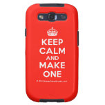 [Crown] keep calm and make one  Samsung Galaxy S3 Cases