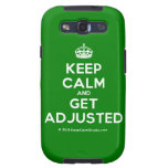 [Crown] keep calm and get adjusted  Samsung Galaxy S3 Cases
