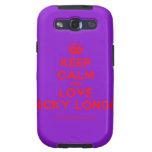 [Crown] keep calm and love nicky longo  Samsung Galaxy S3 Cases