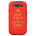 [Skull crossed bones] keep calm and love a aries  Samsung Galaxy S3 Cases