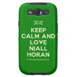 [UK Flag] keep calm and love niall horan  Samsung Galaxy S3 Cases