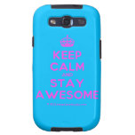 [Crown] keep calm and stay awesome  Samsung Galaxy S3 Cases