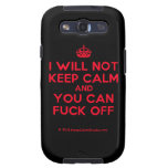 [Crown] i will not keep calm and you can fuck off  Samsung Galaxy S3 Cases