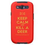 [UK Flag] keep calm and kill a deer  Samsung Galaxy S3 Cases