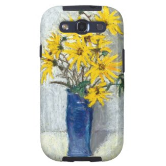 Samsung Galaxy S3 Golden Sunflowers Vibe Case Samsung Galaxy SIII Cases