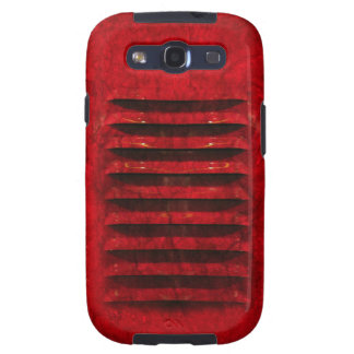 Samsung Galaxy S3 Hot Red Industrial Grill Cover Galaxy SIII Covers