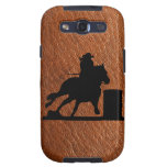 SAMSUNG GALAXY S3 LEATHER BARREL RACER CELL CASE GALAXY SIII CASES