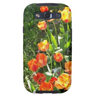 Samsung Galaxy S3 'Vibe' Case with Colorful Tulips Galaxy S3 Covers