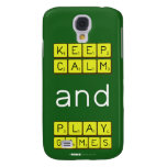 KEEP CALM and PLAY GAMES  Samsung Galaxy S4 Cases