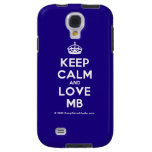 [Crown] keep calm and love mb  Samsung Galaxy S4 Cases